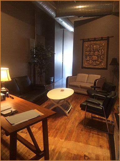 Comfortable Psychologist Interview Area